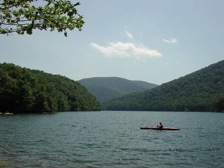 Kayaking near Deep Creek lake